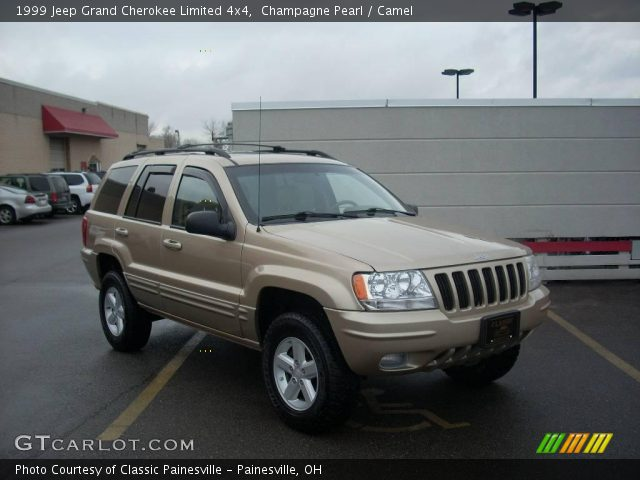 champagne pearl 1999 jeep grand cherokee limited 4x4 camel interior vehicle. Black Bedroom Furniture Sets. Home Design Ideas