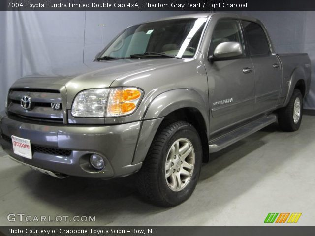 phantom gray pearl 2004 toyota tundra limited double cab 4x4 light charcoal interior. Black Bedroom Furniture Sets. Home Design Ideas