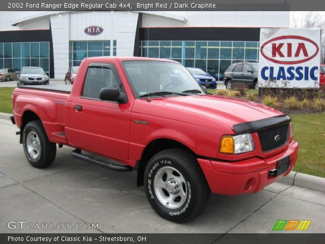 bright red 2002 ford ranger edge regular cab 4x4 dark graphite interior. Black Bedroom Furniture Sets. Home Design Ideas