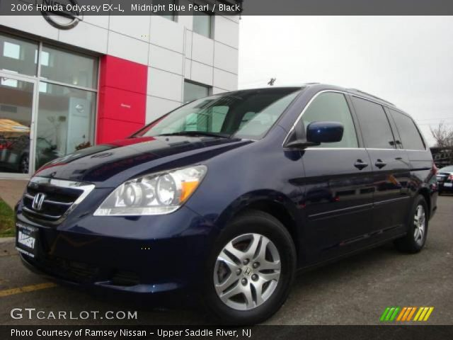 midnight blue pearl 2006 honda odyssey ex l black. Black Bedroom Furniture Sets. Home Design Ideas