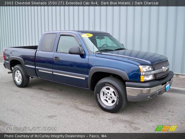 2003 Chevrolet Silverado 1500 Z71 Extended Cab 4x4 in Dark Blue Metallic
