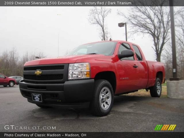 victory red 2009 chevrolet silverado 1500 extended cab dark titanium interior. Black Bedroom Furniture Sets. Home Design Ideas