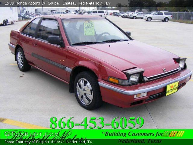 Chateau Red Metallic - 1989 Honda Accord LXi Coupe - Tan ...