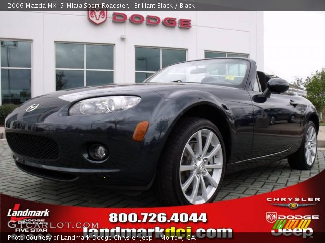 brilliant black 2006 mazda mx 5 miata sport roadster black interior vehicle. Black Bedroom Furniture Sets. Home Design Ideas