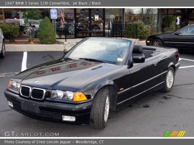 Jet Black BMW Series I Convertible Black Interior - 1997 bmw 328i convertible