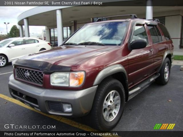 burnt cherry red pearl 2001 nissan pathfinder se beige. Black Bedroom Furniture Sets. Home Design Ideas