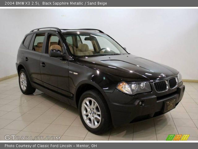 black sapphire metallic 2004 bmw x3 sand beige. Black Bedroom Furniture Sets. Home Design Ideas