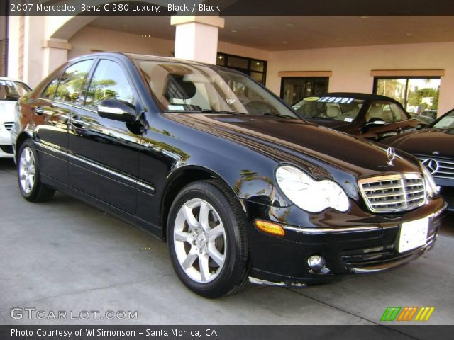 Black 2007 mercedes benz c 280 luxury black interior for 2007 mercedes benz 280