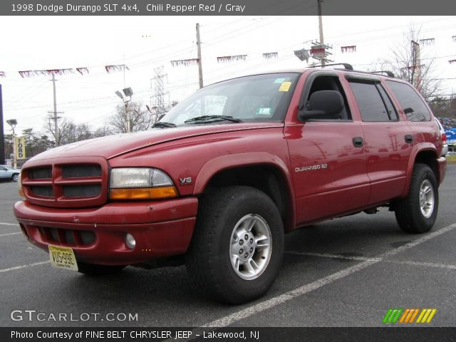 chili pepper red 1998 dodge durango slt 4x4 gray. Black Bedroom Furniture Sets. Home Design Ideas