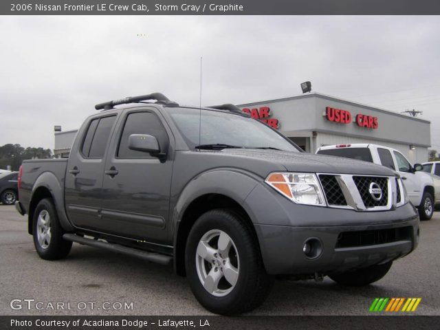 storm gray 2006 nissan frontier le crew cab graphite interior vehicle. Black Bedroom Furniture Sets. Home Design Ideas