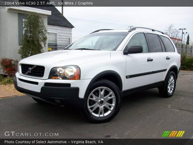 ice white 2004 volvo xc90 2 5t awd graphite interior vehicle archive 2251483. Black Bedroom Furniture Sets. Home Design Ideas