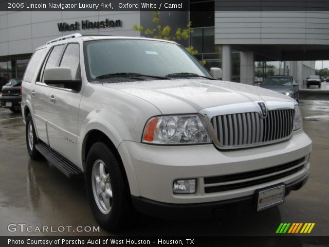 oxford white 2006 lincoln navigator luxury 4x4 camel. Black Bedroom Furniture Sets. Home Design Ideas