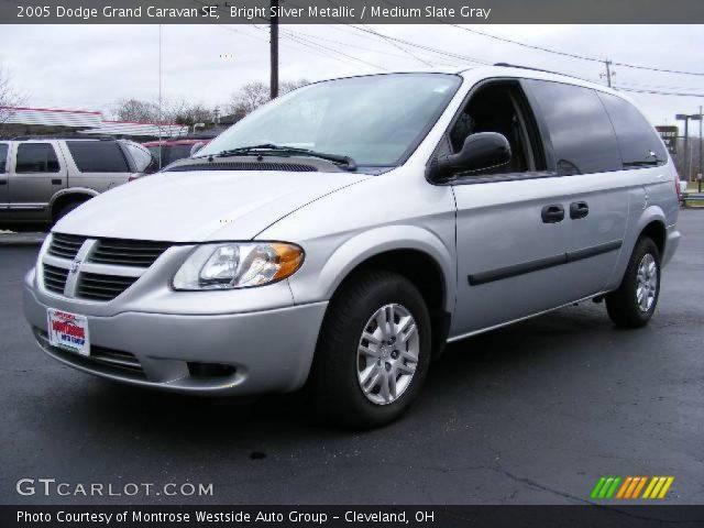bright silver metallic  dodge grand caravan se medium slate gray interior gtcarlotcom