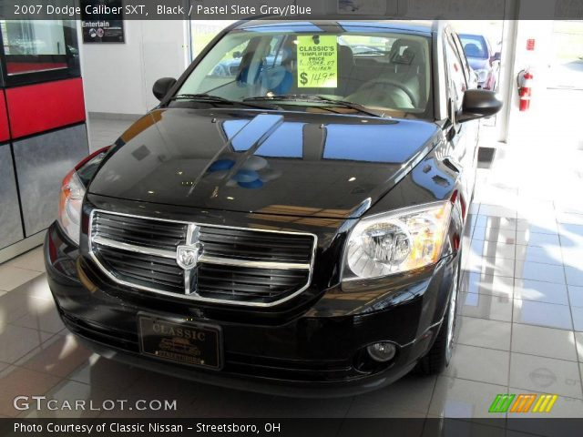 black 2007 dodge caliber sxt pastel slate gray blue. Black Bedroom Furniture Sets. Home Design Ideas