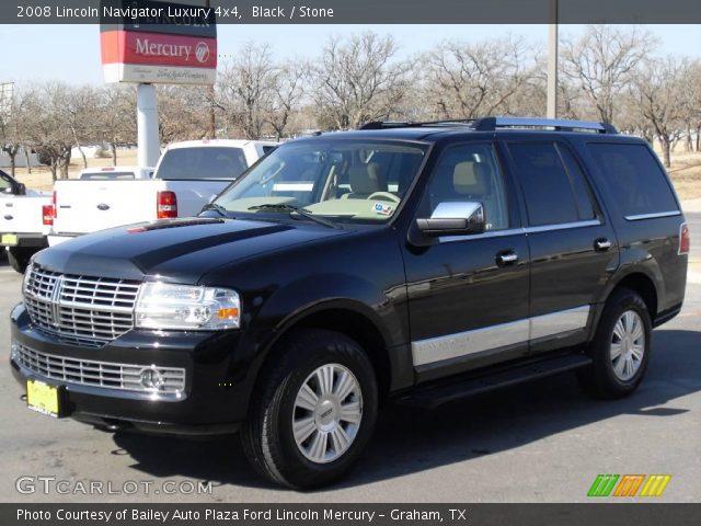 Black 2008 Lincoln Navigator Luxury 4x4 Stone Interior Vehicle Archive 2253978