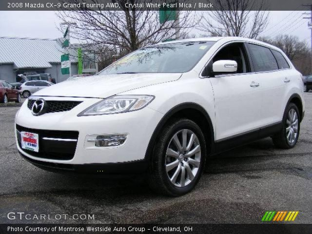 crystal white pearl mica 2008 mazda cx 9 grand touring awd black interior. Black Bedroom Furniture Sets. Home Design Ideas