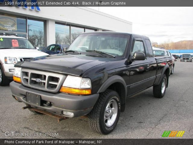 black 1998 ford ranger xlt extended cab 4x4 medium graphite interior. Black Bedroom Furniture Sets. Home Design Ideas