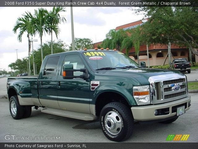 Forest Green Metallic 2008 Ford F350 Super Duty King Ranch Crew Cab 4x4 Dually Chaparral