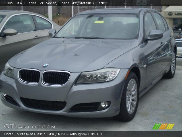 space grey metallic 2009 bmw 3 series 328i sedan black interior vehicle. Black Bedroom Furniture Sets. Home Design Ideas