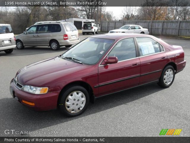 1996 Honda Accord LX Sedan in Bordeaux Red Pearl. Click to see large ...