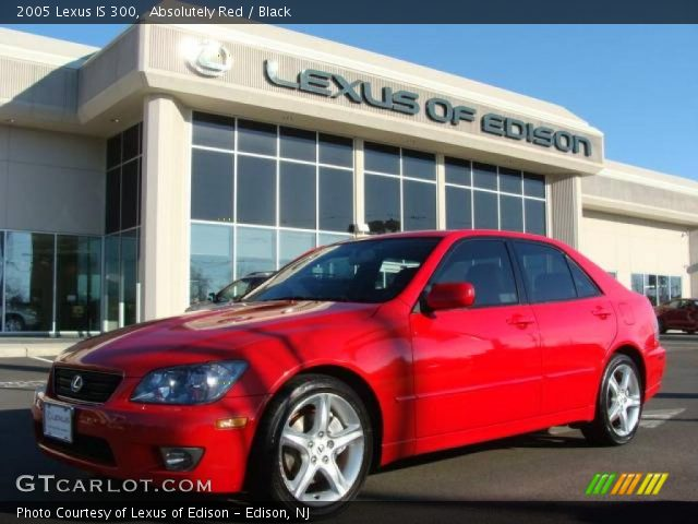 absolutely red 2005 lexus is 300 black interior vehicle archive 2294317. Black Bedroom Furniture Sets. Home Design Ideas