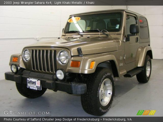 Light Khaki Metallic 2003 Jeep Wrangler Sahara 4x4 Khaki Interior Vehicle