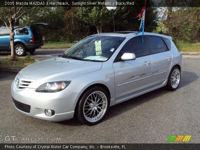 sunlight silver metallic 2005 mazda mazda3 s hatchback. Black Bedroom Furniture Sets. Home Design Ideas