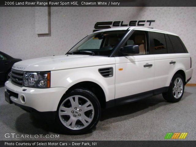 chawton white 2006 land rover range rover sport hse ivory interior vehicle. Black Bedroom Furniture Sets. Home Design Ideas