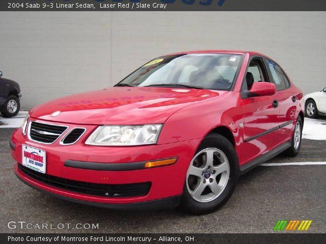 laser red 2004 saab 9 3 linear sedan slate gray interior vehicle archive. Black Bedroom Furniture Sets. Home Design Ideas