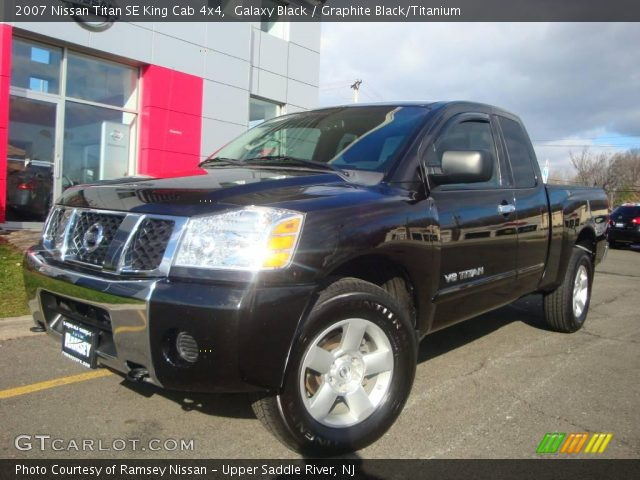 galaxy black 2007 nissan titan se king cab 4x4 graphite black titanium interior gtcarlot. Black Bedroom Furniture Sets. Home Design Ideas