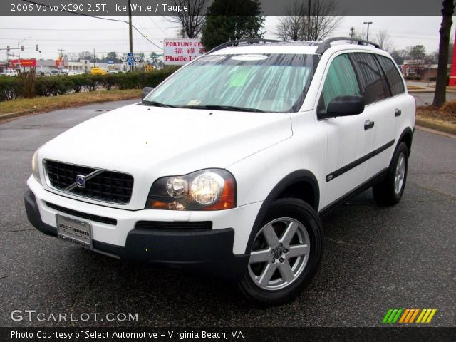 ice white 2006 volvo xc90 2 5t taupe interior vehicle archive 2305910. Black Bedroom Furniture Sets. Home Design Ideas