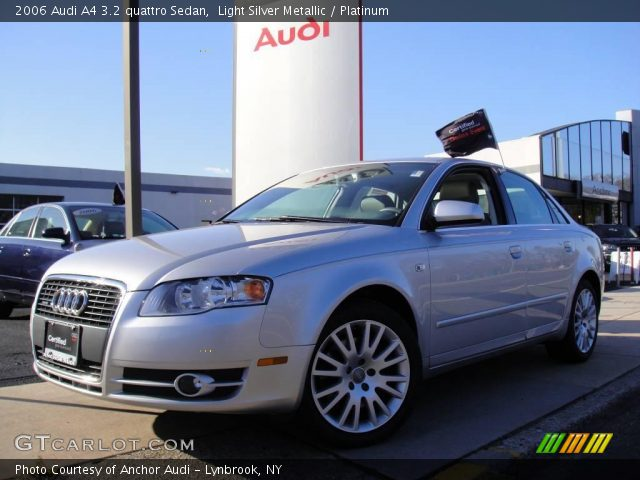 light silver metallic 2006 audi a4 3 2 quattro sedan platinum interior. Black Bedroom Furniture Sets. Home Design Ideas
