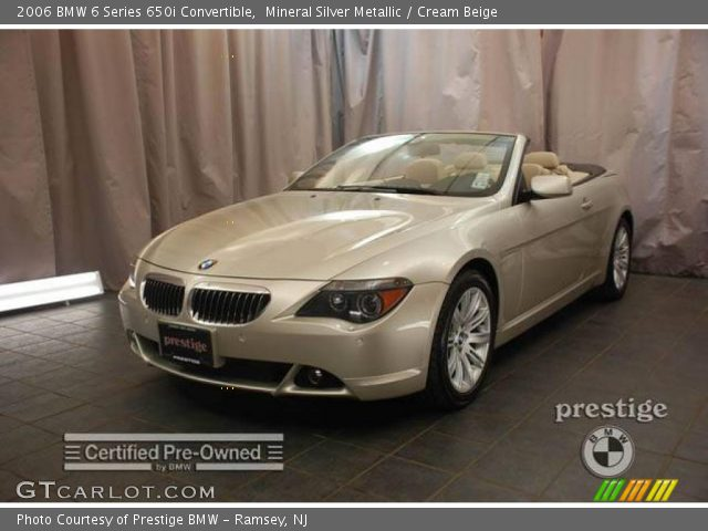 mineral silver metallic 2006 bmw 6 series 650i convertible cream beige interior gtcarlot. Black Bedroom Furniture Sets. Home Design Ideas