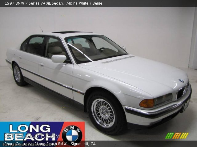 alpine white 1997 bmw 7 series 740il sedan beige. Black Bedroom Furniture Sets. Home Design Ideas