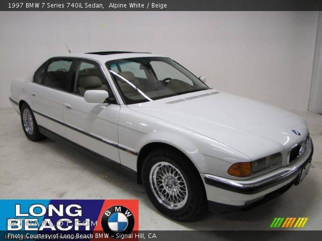 alpine white 1997 bmw 7 series 740il sedan beige. Black Bedroom Furniture Sets. Home Design Ideas