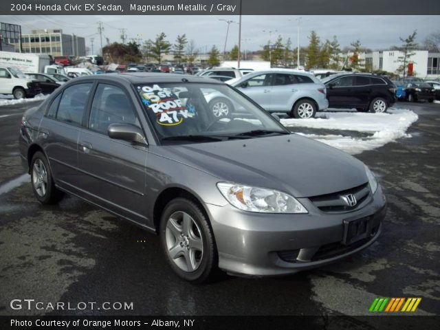 Magnesium Metallic 2004 Honda Civic Ex Sedan Gray Interior Vehicle Archive