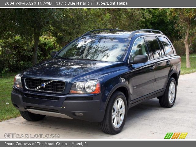nautic blue metallic 2004 volvo xc90 t6 awd taupe light taupe interior. Black Bedroom Furniture Sets. Home Design Ideas