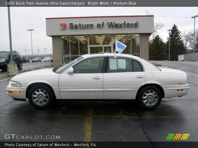 bright white 1998 buick park avenue ultra supercharged medium blue interior. Black Bedroom Furniture Sets. Home Design Ideas