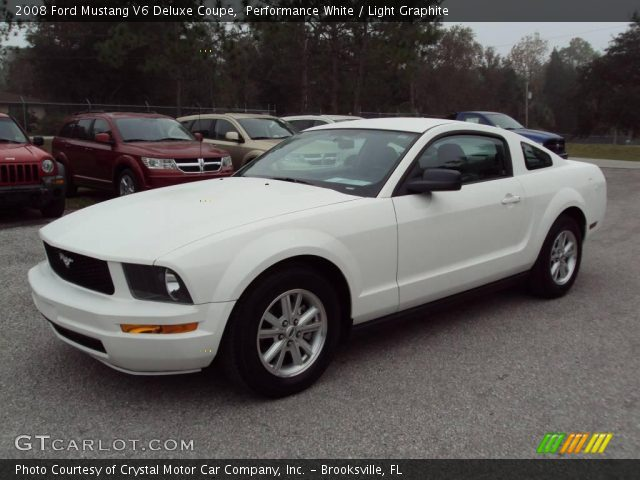 performance white 2008 ford mustang v6 deluxe coupe. Black Bedroom Furniture Sets. Home Design Ideas