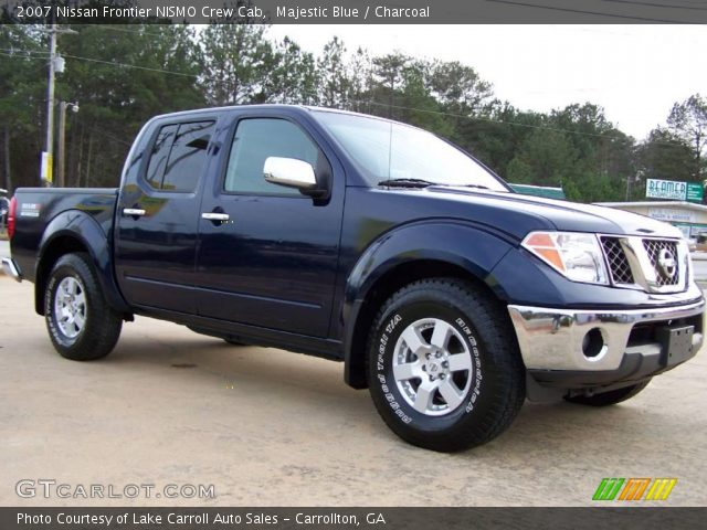 majestic blue 2007 nissan frontier nismo crew cab charcoal interior vehicle. Black Bedroom Furniture Sets. Home Design Ideas