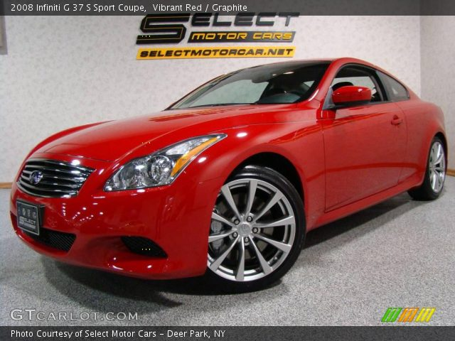2008 Infiniti G 37 S Sport Coupe in Vibrant Red
