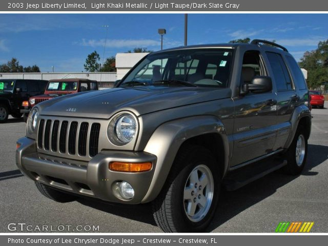 Light Khaki Metallic 2003 Jeep Liberty Limited Light Taupe Dark Slate Gray Interior
