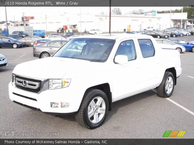 white 2010 honda ridgeline rtl gray interior vehicle archive 23531996. Black Bedroom Furniture Sets. Home Design Ideas