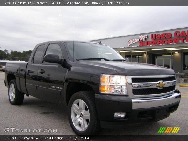 black 2008 chevrolet silverado 1500 lt extended cab dark titanium interior. Black Bedroom Furniture Sets. Home Design Ideas