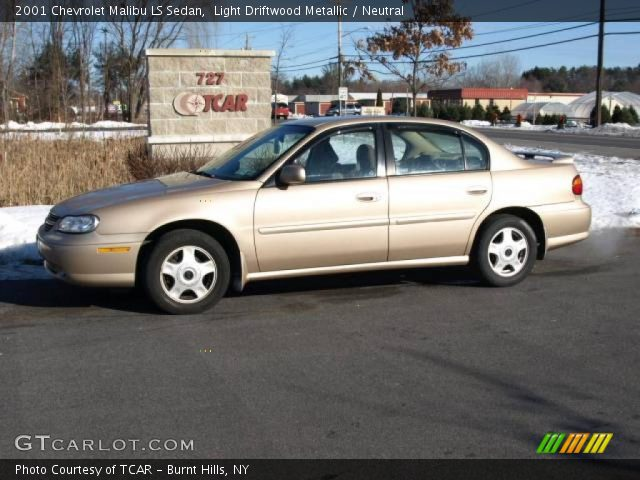 light driftwood metallic 2001 chevrolet malibu ls sedan. Black Bedroom Furniture Sets. Home Design Ideas