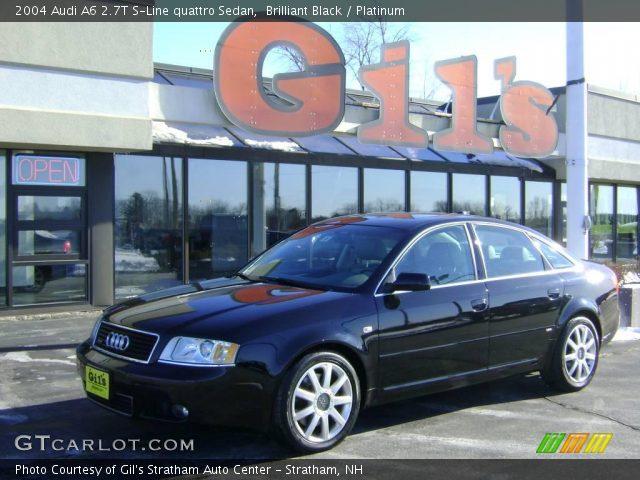 Brilliant Black - 2004 Audi A6 2.7T S-Line quattro Sedan ...  Brilliant Black...