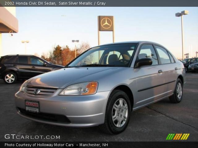 satin silver metallic 2002 honda civic dx sedan gray. Black Bedroom Furniture Sets. Home Design Ideas