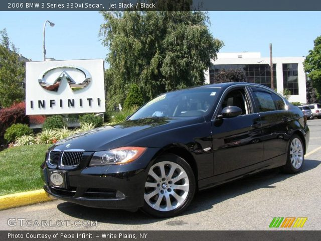 jet black 2006 bmw 3 series 330xi sedan black interior vehicle archive 2391779. Black Bedroom Furniture Sets. Home Design Ideas
