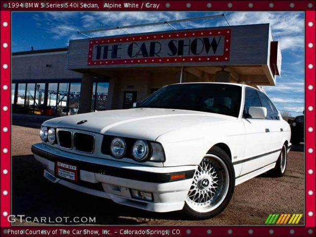 alpine white 1994 bmw 5 series 540i sedan gray. Black Bedroom Furniture Sets. Home Design Ideas