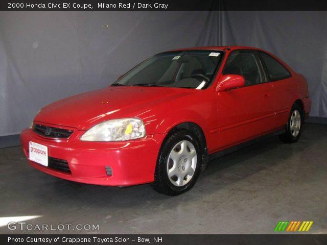 milano red 2000 honda civic ex coupe dark gray interior vehicle archive. Black Bedroom Furniture Sets. Home Design Ideas